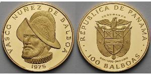 100 Бальбоа Республика Панама Золото Нуньес де Бальбоа, Васко (1475 – 1519)