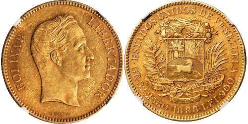 100 Болівар Венесуела Золото Simon Bolivar (1783 - 1830)