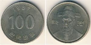 100 Вона Південна Корея Нікель/Мідь