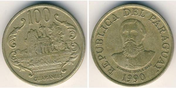 100 Гуарані Республіка Парагвай (1811 - )