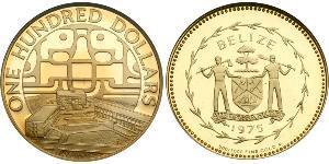 100 Долар Беліз (1981 - ) Золото