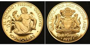 100 Долар Гайана Золото