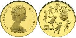100 Долар Канада Золото Єлизавета II (1926-)