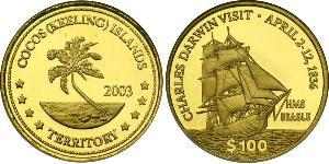 100 Долар Кокосові острови Золото