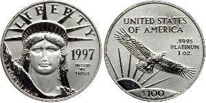 100 Долар США (1776 - ) Платина