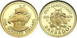 100 Доллар Барбадос Золото