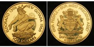100 Доллар Гайана Золото