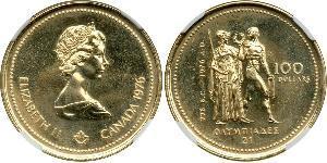 100 Доллар Канада Золото Елизавета II (1926-)