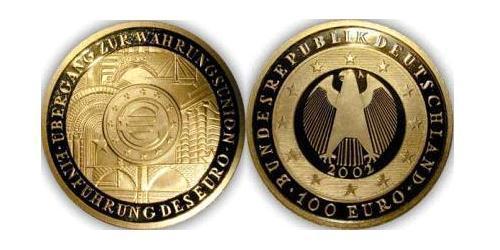 100 Евро Германия Золото