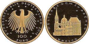 100 Евро Федеративная Республика Германия (1990 - ) Золото