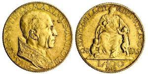 100 Лира Ватикан (1926-) Золото Пий XII  (1876 - 1958)