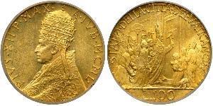 100 Лира Папская область (752-1870) Золото