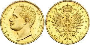 100 Лира Kingdom of Italy (1861-1946) Золото Виктор Эммануил III (1869 - 1947)