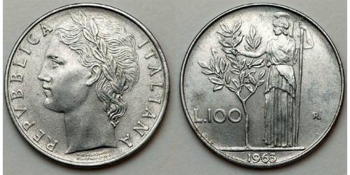 100 Лира Италия Сталь