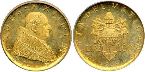 100 Ліра Ватікан (1926-) Золото Іван XXIII