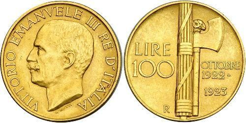 100 Ліра Kingdom of Italy (1861-1946) Золото