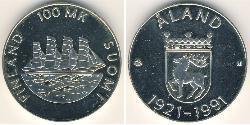 100 Марка Финляндия (1917 - ) Серебро