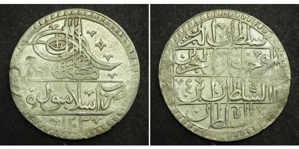 100 Пара / 1 Yuzluk Османская империя (1299-1923) Серебро Selim III