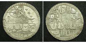 100 Пара / 1 Yuzluk Османська імперія (1299-1923) Срібло Selim III