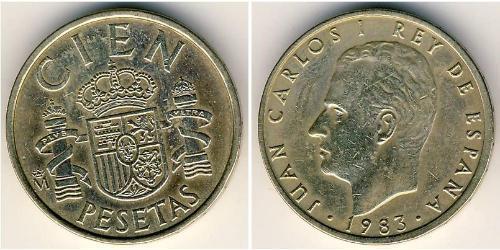 100 Песета Королівство Іспанія (1976 - ) Бронза/Алюміній Хуан Карлос I (1938 - )