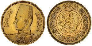 100 Піастр Королівство Єгипет (1922 - 1953) Золото Фарук I, король Єгипта(1920 - 1965)