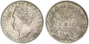 100 Рейс Королевство Португалия (1139-1910) Серебро Luis I of Portugal (1838 -1889)