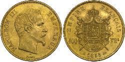 100 Франк Вторая французская империя (1852-1870) Золото Наполеон III Бонапарт (1808-1873)