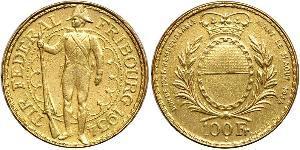 100 Франк Швейцария Золото