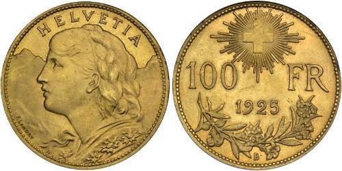 100 Франк Швейцарія Золото