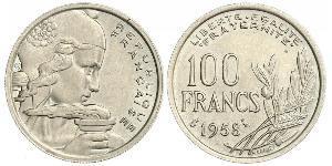 100 Франк Четвёртая французская республика (1946-1958) Никель/Медь