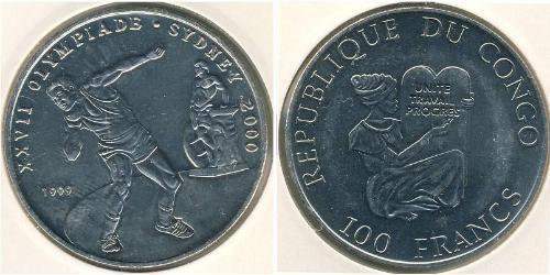 100 Франк Демократична Республіка Конго Нікель/Мідь