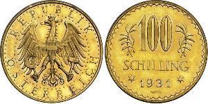 100 Шиллинг Первая Австрийская Республика (1918-1934) Золото