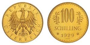 100 Шилінг Перша Австрійська Республіка (1918-1934) Золото