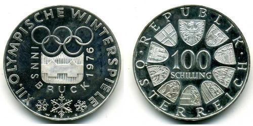 100 Шилінг Австрійська Республіка (1955 - ) Срібло