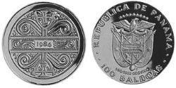 100 Balboa Republic of Panama Gold