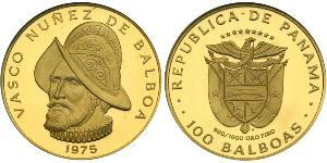 100 Balboa Republic of Panama Gold Vasco Núñez de Balboa (1475 – 1519)