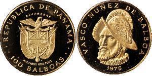 100 Balboa Panama Or Vasco Núñez de Balboa (1475 – 1519)