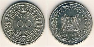 100 Cent Suriname Copper/Nickel
