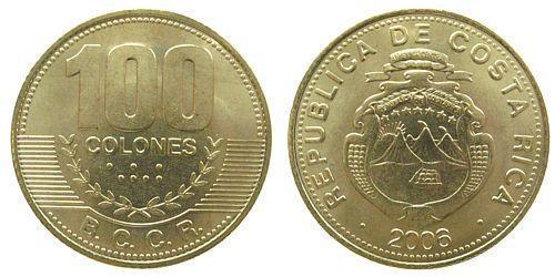 100 Colon Costa Rica 青铜