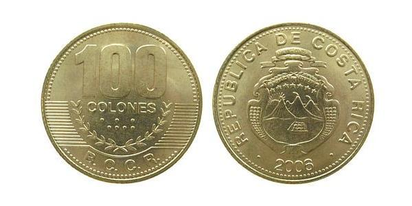 100 Colon Costa Rica Bronze