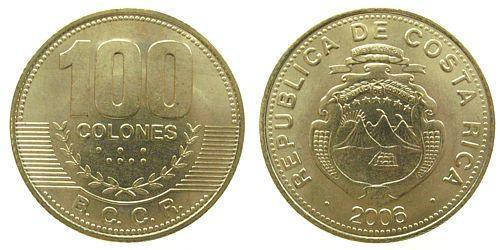 100 Colon Costa Rica Bronzo