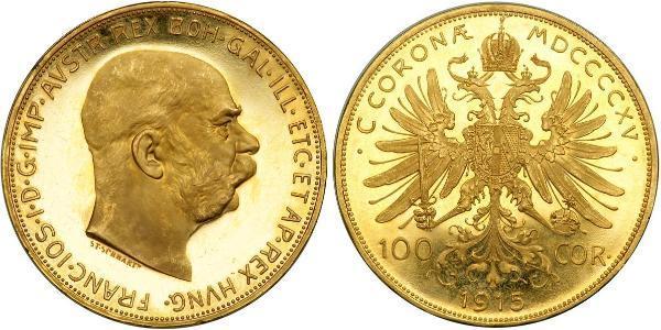 100 Corona 奥匈帝国 (1867 - 1918) 金 弗朗茨·约瑟夫一世 (1830 - 1916)