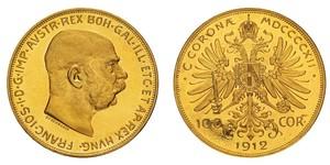 100 Corona Österreich-Ungarn (1867-1918) Gold Franz Joseph I (1830 - 1916)