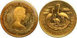 100 Dólar Bahamas Oro Isabel II (1926-)