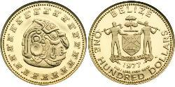 100 Dólar Belice (1981 - ) Oro