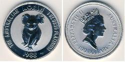 100 Dólar Australia (1939 - ) Platino