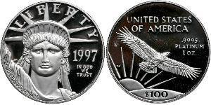 100 Dólar Estados Unidos de América (1776 - ) Platino