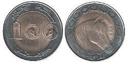 100 Dinar Algerien Bimetall