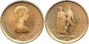 100 Dollar 加拿大 金 伊丽莎白二世 (1926-)