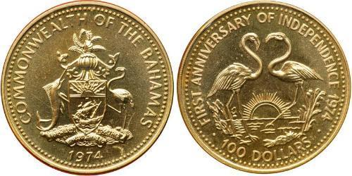 100 Dollar Bahamas Gold